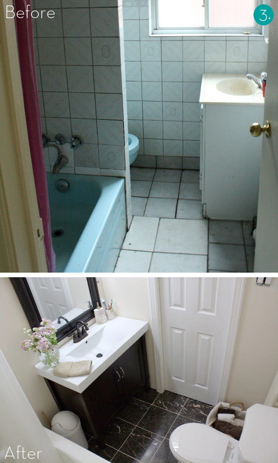 Easy bathroom makeover home interior designs and for Small bathroom makeovers