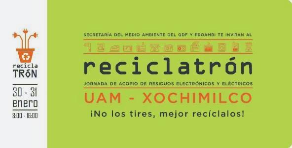 Primer Reciclatrón del 2014 en la UAM Xochimilco