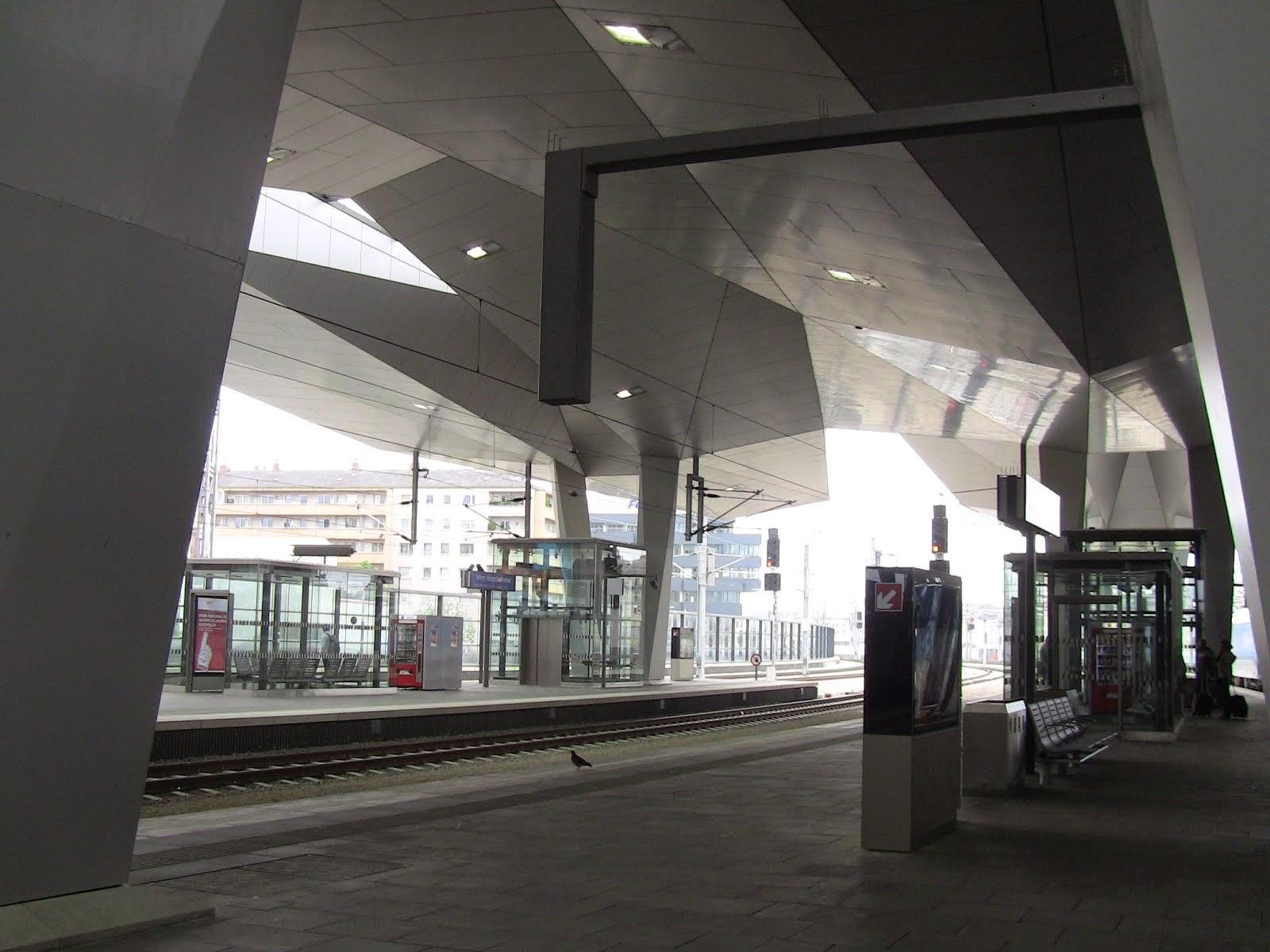 Wien Haupbahnhof le futur est parmi nous.