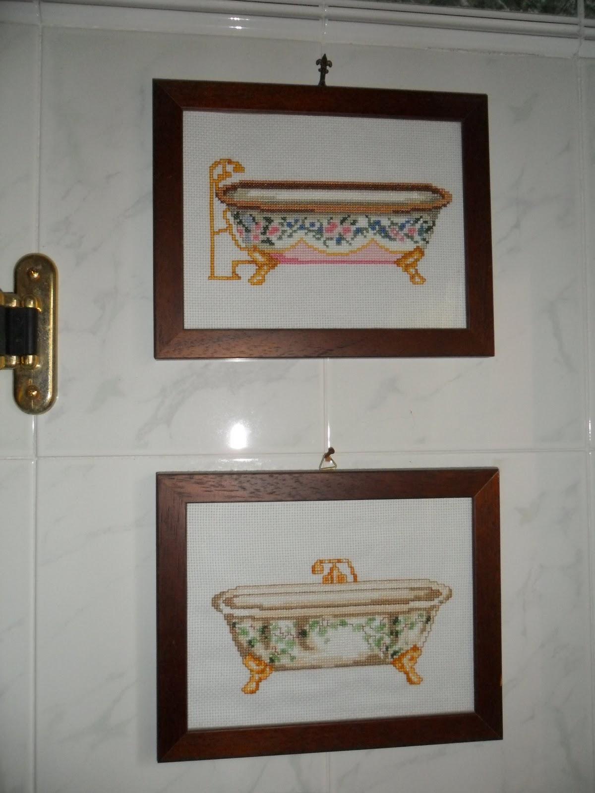 Si si le amiche creative le vasche a punto croce for Progetta le mie planimetrie del bagno