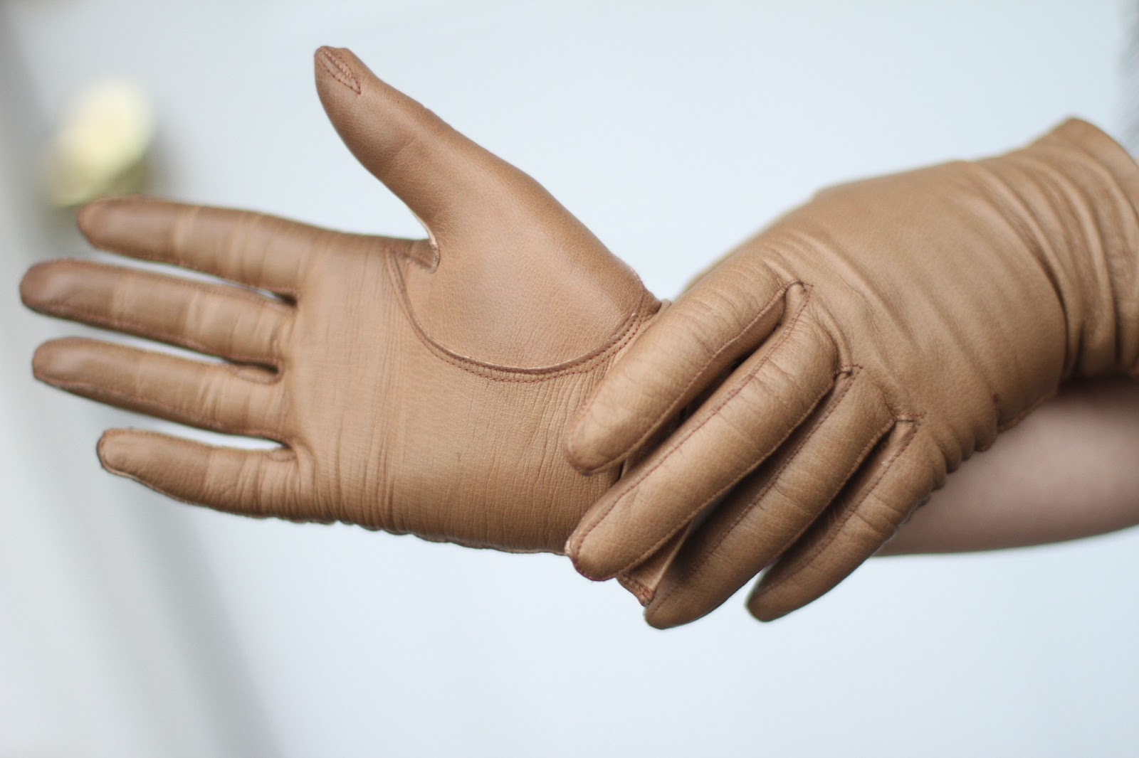 Kid leather driving gloves - 1960 S Black Kid Leather Diving Gloves