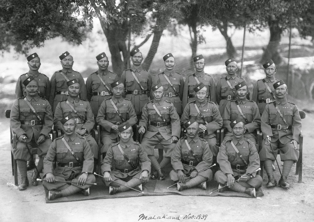 1st Battalion Gurkha Officers Malakand 1939 - seated centre Honorary Lieutenant & Subedar Major Maniraj Gurung OBI Sirdar Bahadur