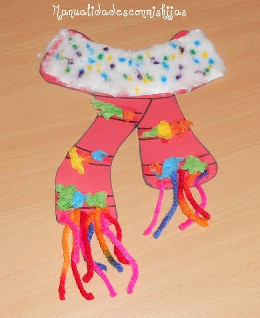 Manualidades con mis hijas bufanda de invierno - Manualidades con papel craft ...