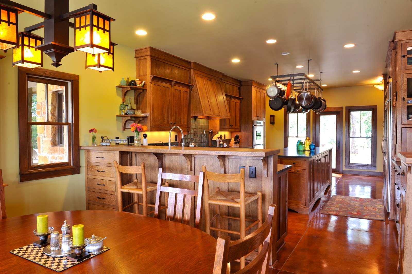 Arts and crafts dining room lighting - Arts And Crafts Style Home Cordillera Ranch