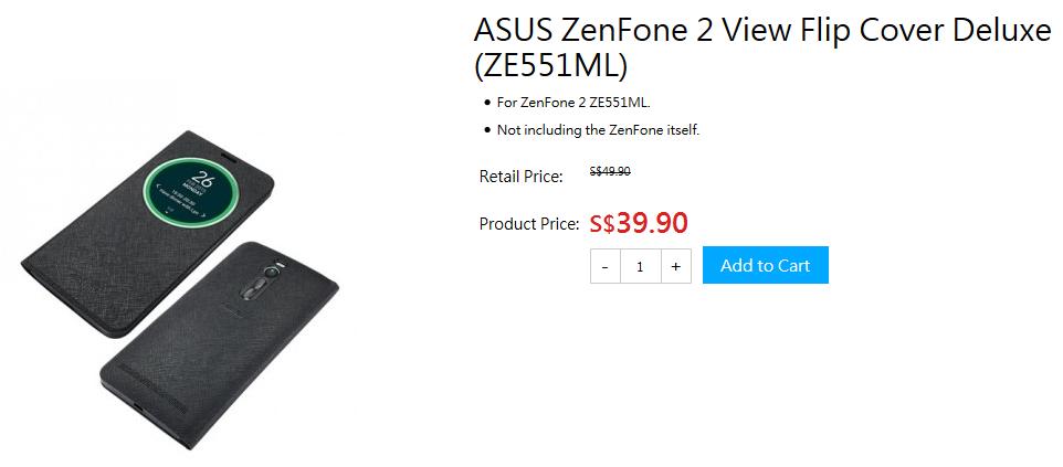 Harga ASUS ZenFone 2 View Flip Cover Deluxe