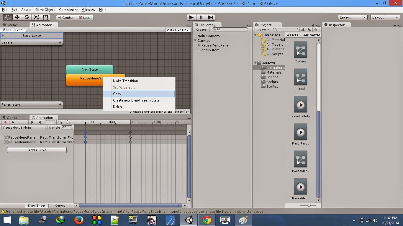 Animator component contents