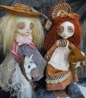 Lulusapple dolls,sad art doll,lulu lancaster, creepy,spooky dolls, art doll