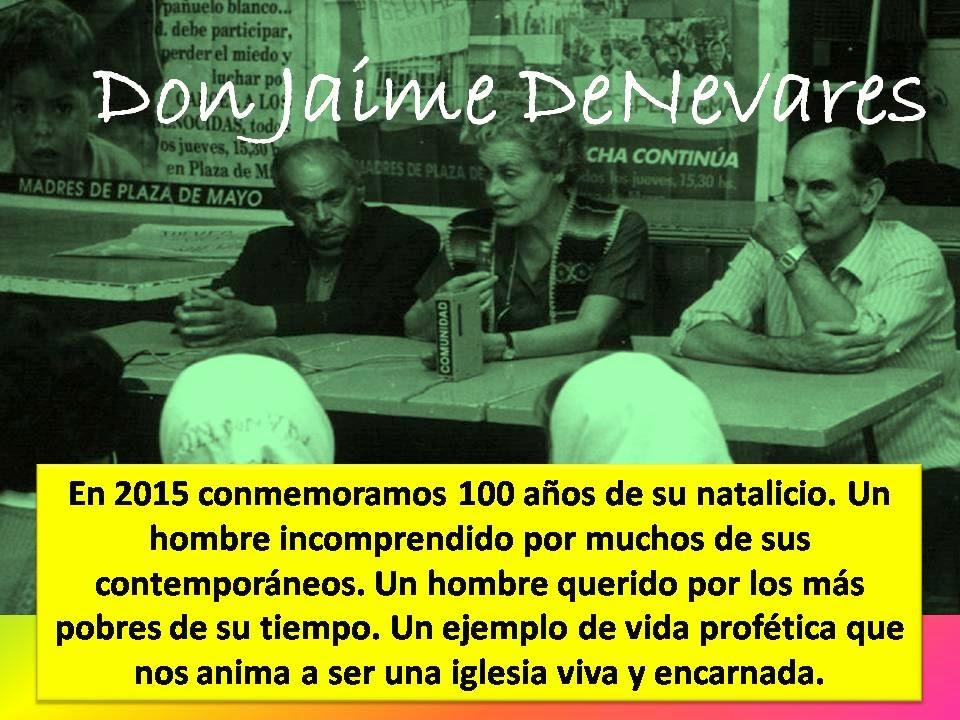 Don Jaime Francisco De Nevares , a 100 años de su natalicio