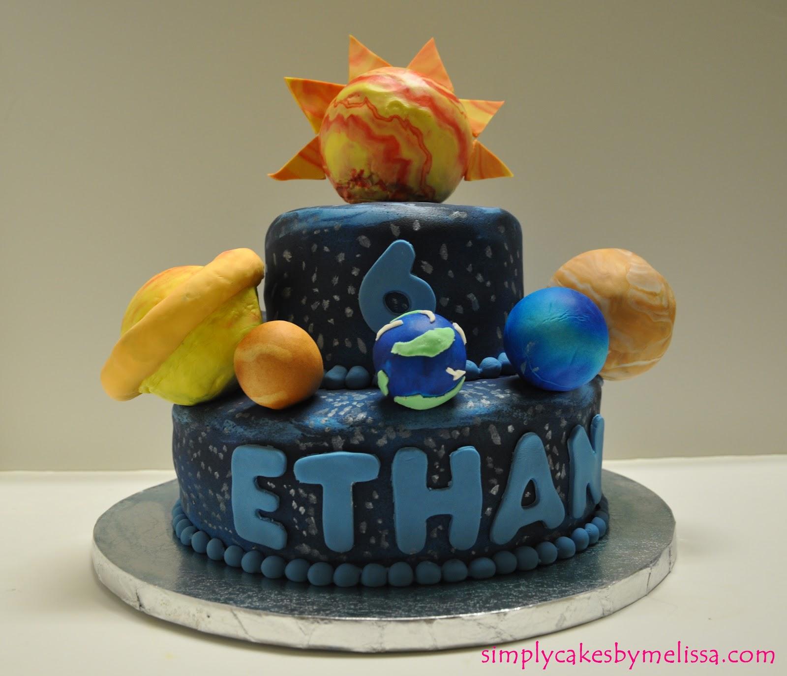 Simplycakesbymelissa solar system cake