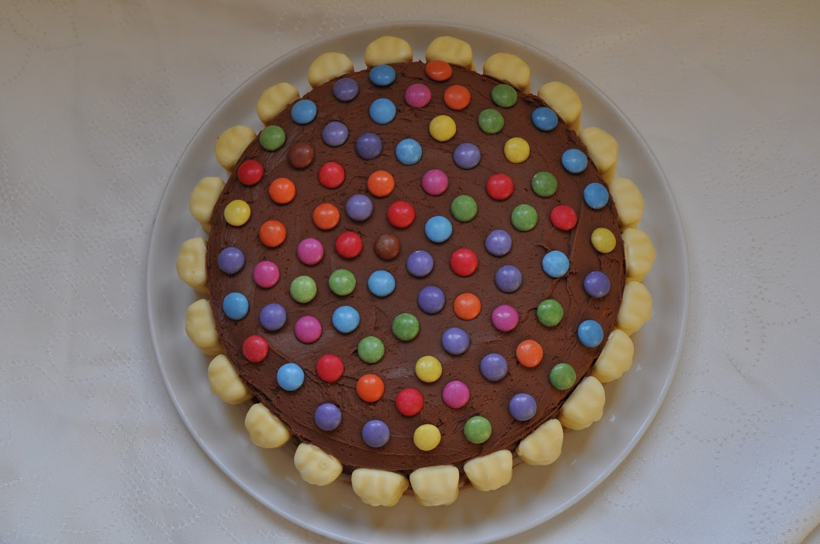 Gateau smarties chocolat blanc