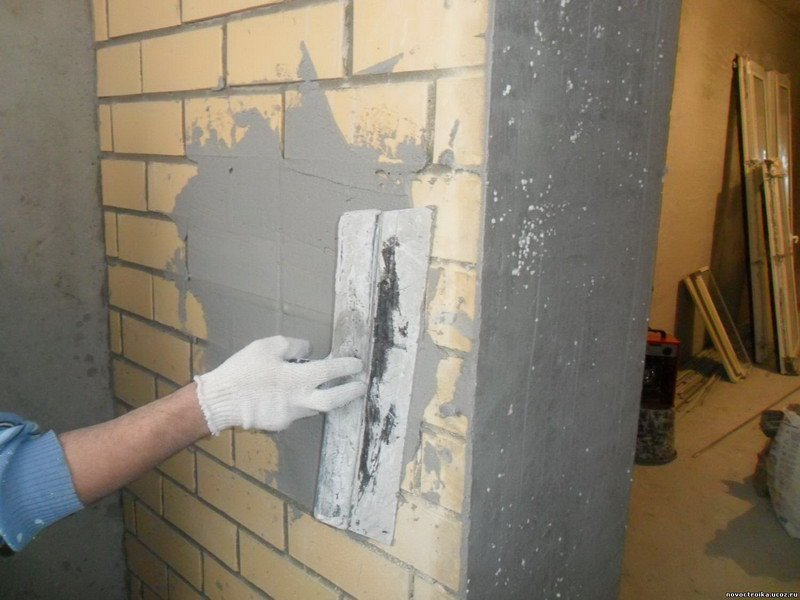 Оштукатуривания стен своими руками