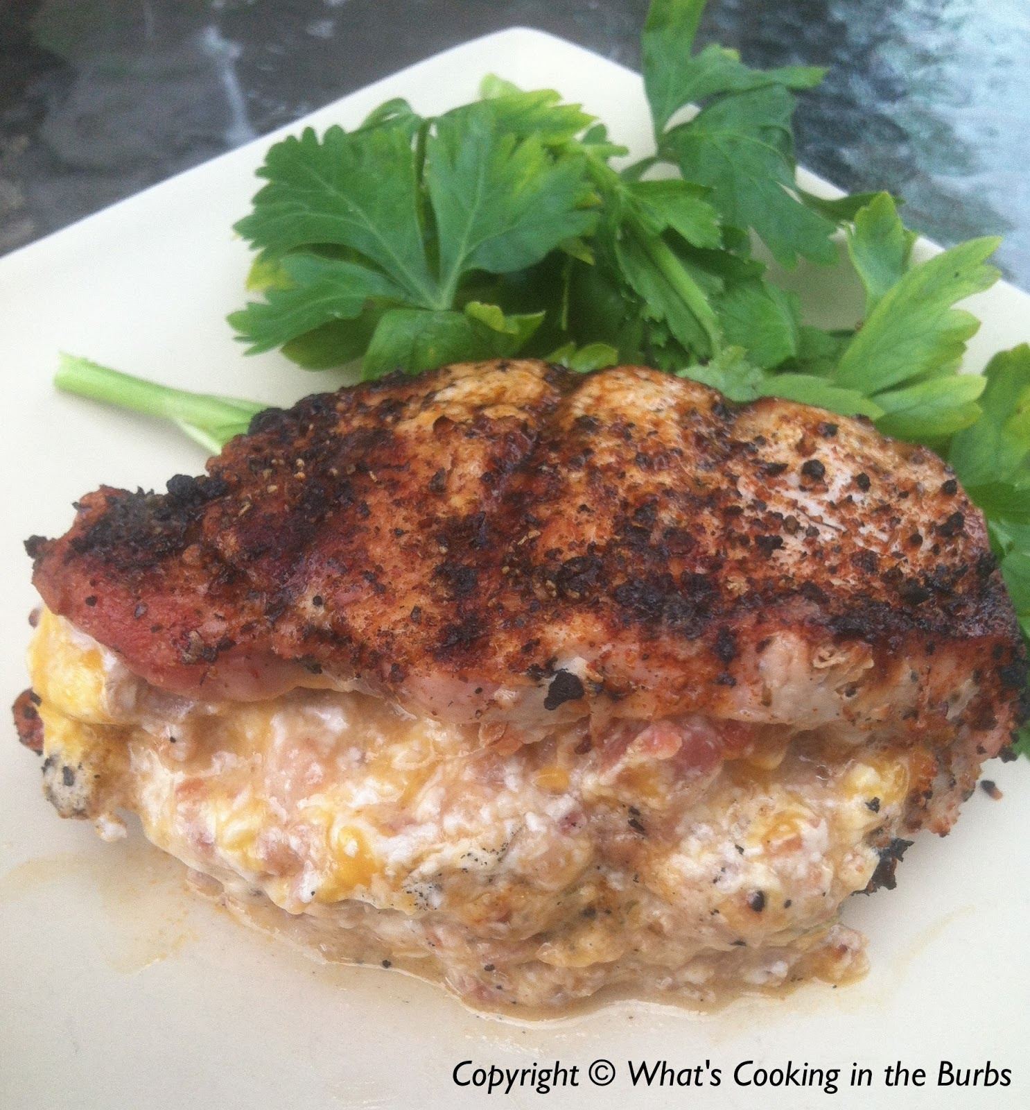 ... cooking in the burbs: Bacon and Cheese Stuffed Southwest Pork Chops