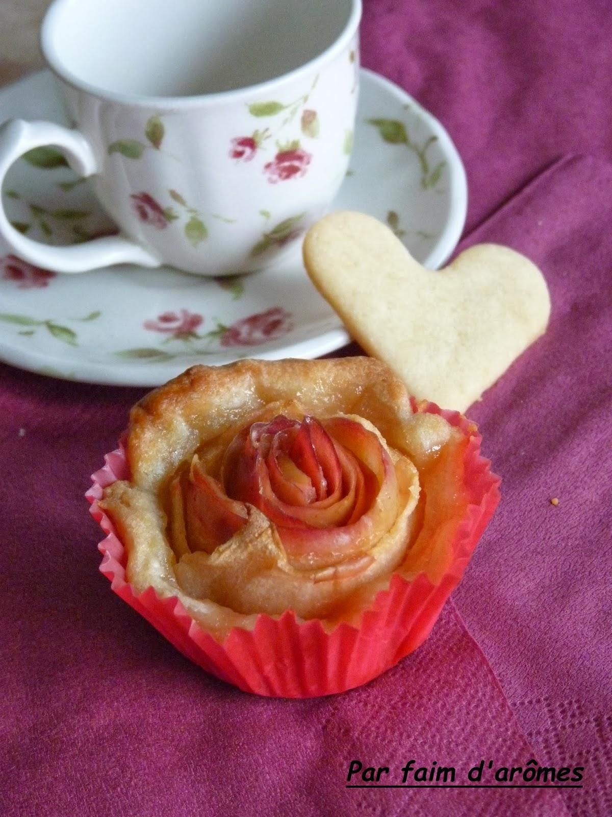 """Saint-Valentin : Tartelettes aux pommes """"bouquet de roses"""""""