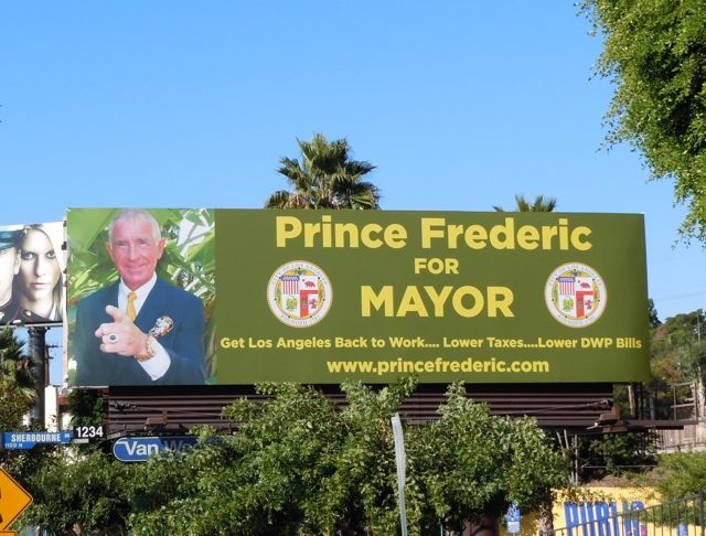 Prince Frederic LA Mayor billboard