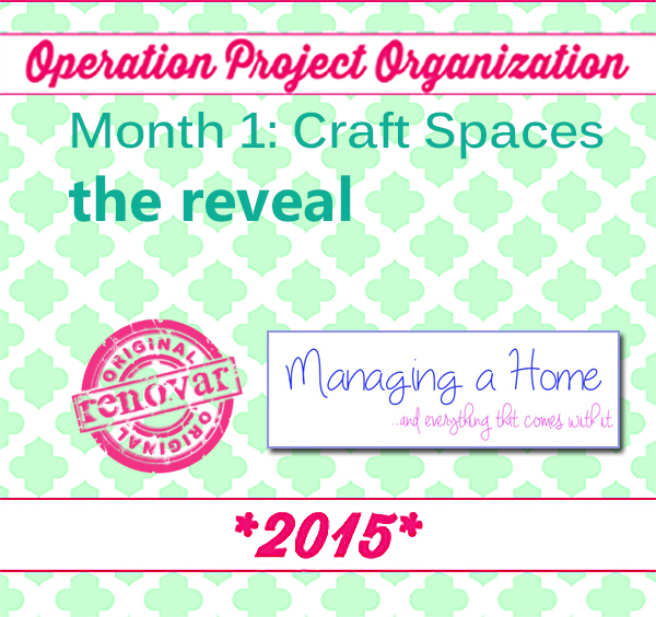Reveal Pictures of Craft Storage Organization - Operation: Project Organize Month 1 Craft Space | Managing a Home