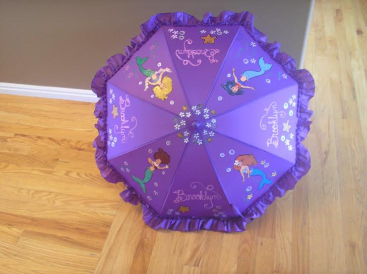 My new mermaid parasol
