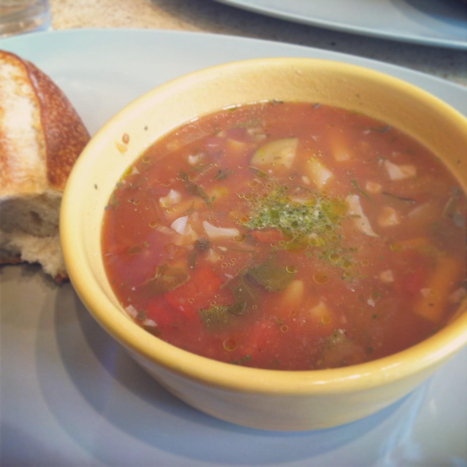 Veggie Pesto Soup