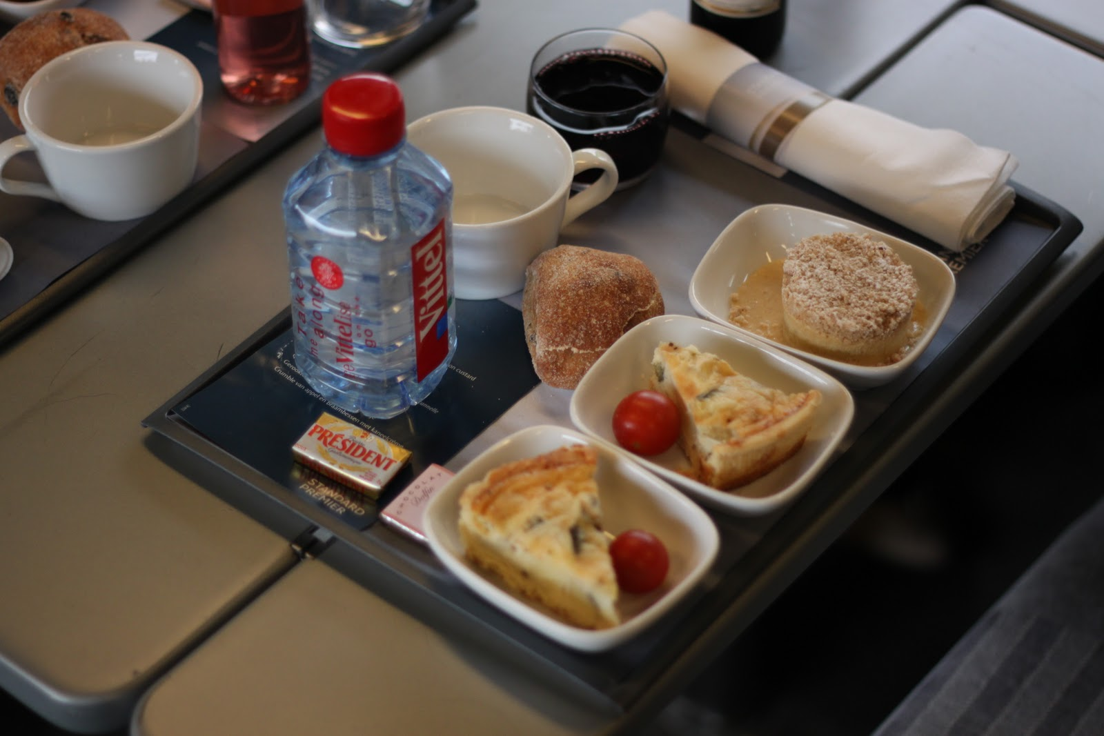 Lunch on the Eurostar Standard Premier