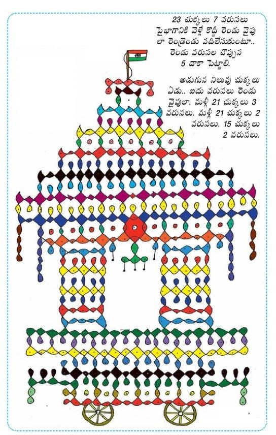 sankranthi muggulu and Mehandi designs...: ratham muggulu