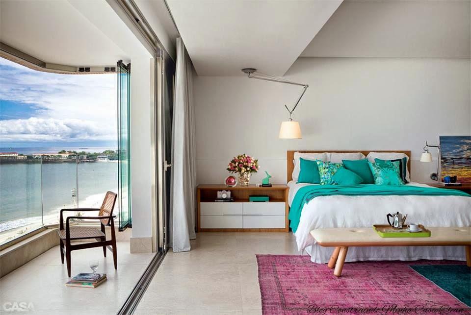 Construindo Minha Casa Clean Decoração Turquesa  ~ Quarto Verde Marinho