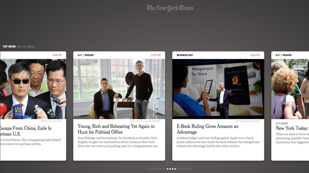 NYTimes for Leap Motion - App