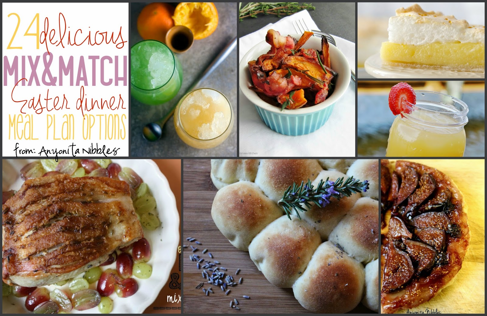 She has an amazing round up of Easter dinner options for you to mix & match! MUST PIN!