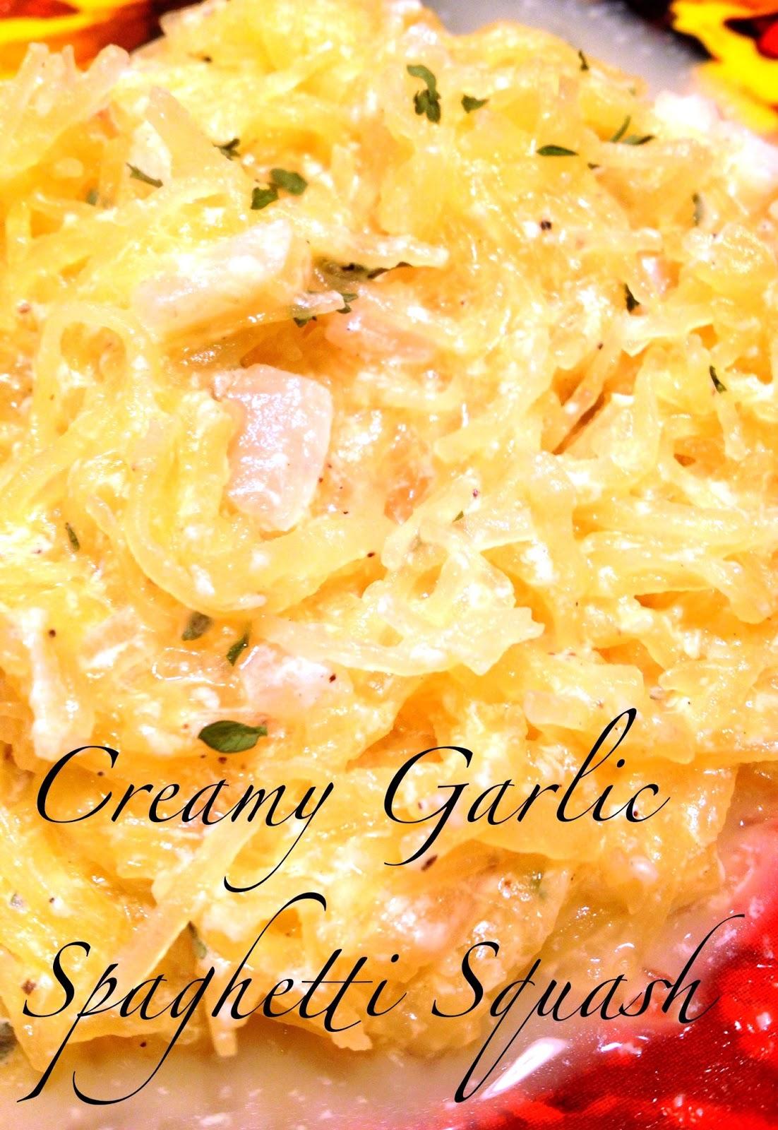 Healthy Makeover: Creamy Garlic Spaghetti Squash