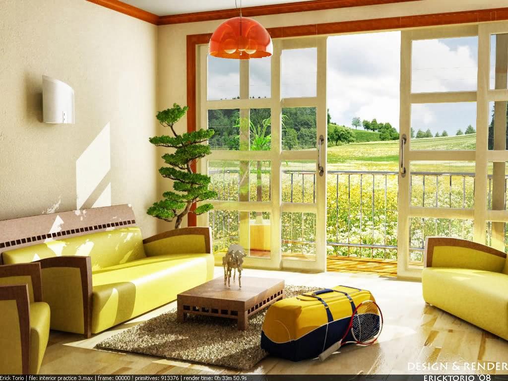 Sala De Estar Com Detalhes Amarelo ~  Decoração Sugestões para Decorar a Sala de Estar em Amarelo