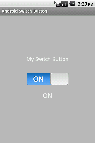 Android OS toggle