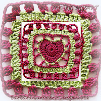 crochet patterns, hearts, square hearts, afghans,