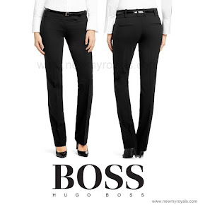 Queen Letizia Style  HUGO BOSS Taru Trousers