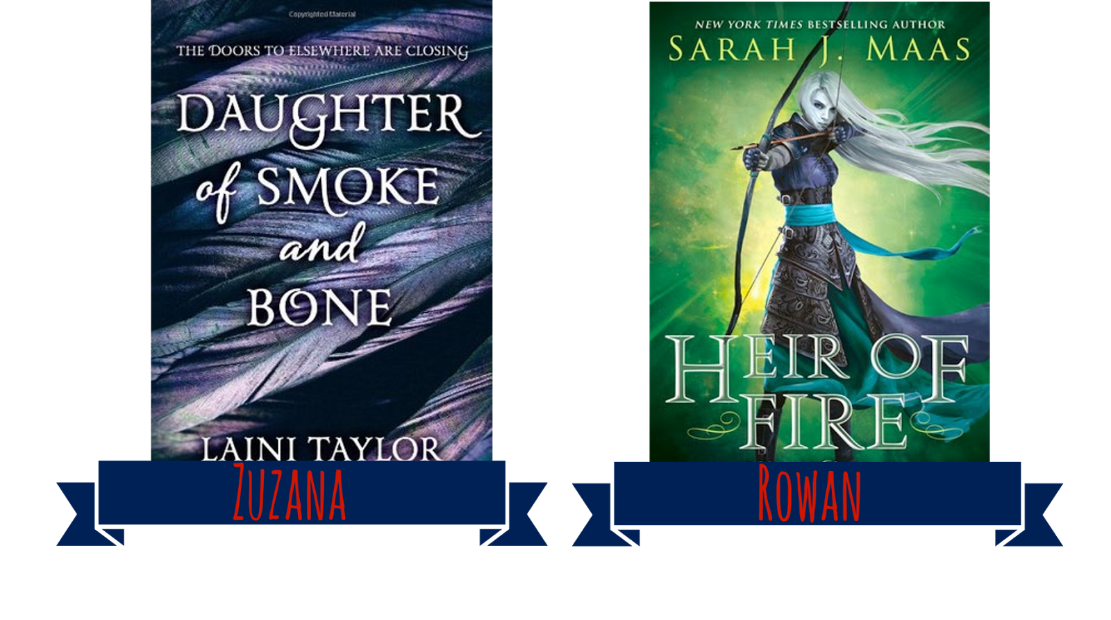 Daughter of Smoke and Bone + Heir of Fire book covers