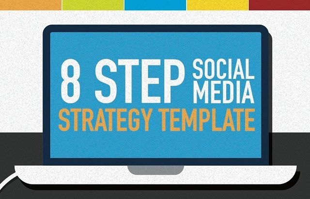 8 step social media marketing strategy template infographic visualistan. Black Bedroom Furniture Sets. Home Design Ideas