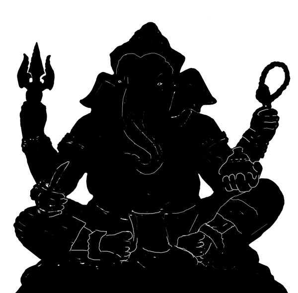 Ganesh Silhouette