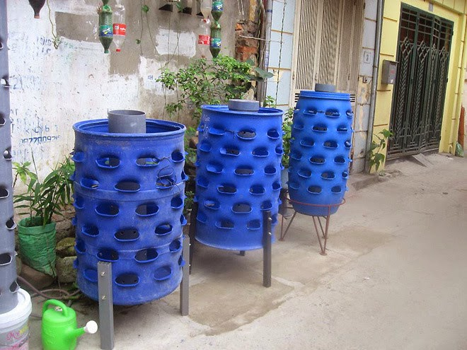 plant vegetables with waste plastic drums | Manufacturers outdoor furniture