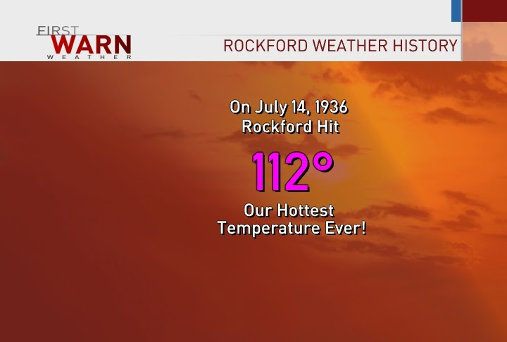 first warn weather team  rockford u0026 39 s hottest day ever