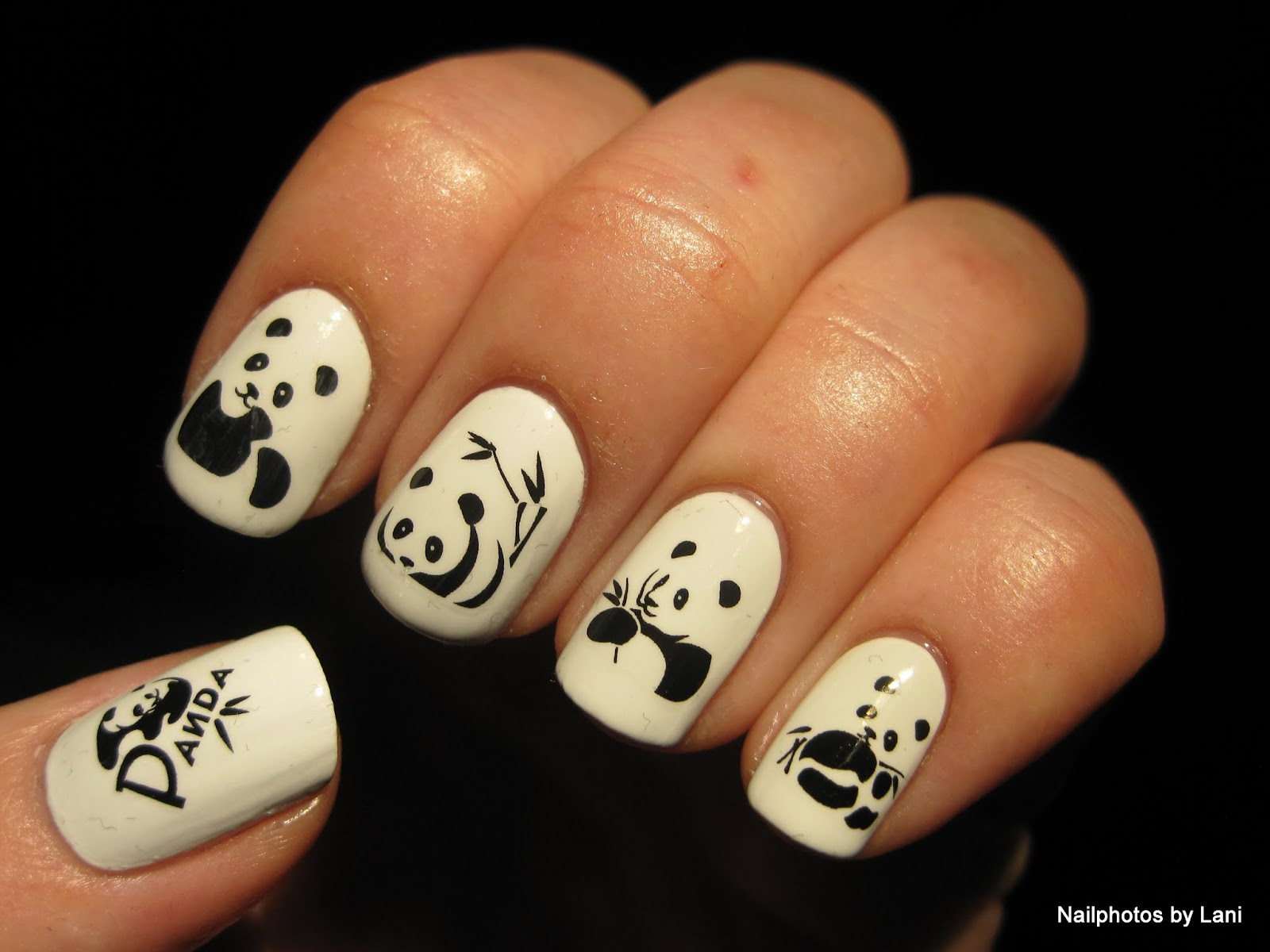 Nailphotos by lani giant panda and giant panda cub water decals giant panda eating bamboo water decals prinsesfo Image collections