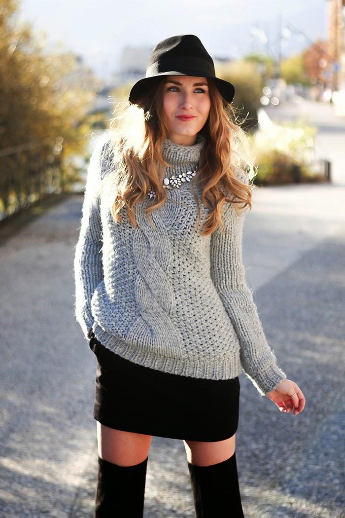grey knitwear hallhuber