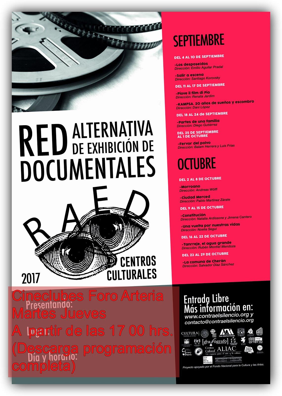 RAED Red Alternativa de Exhibición de Documentales Septiembre /Octubre