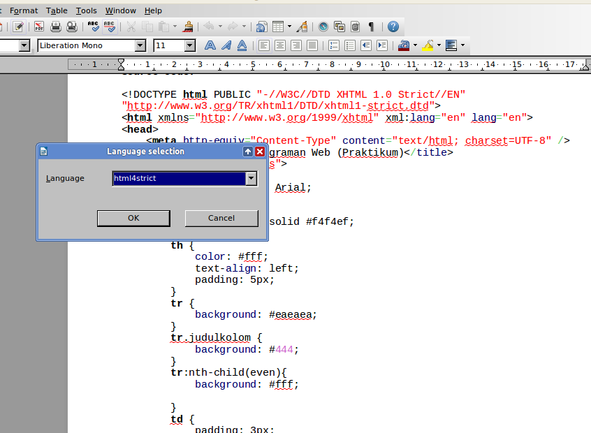 COOoder: Percantik Source Code di LibreOffice
