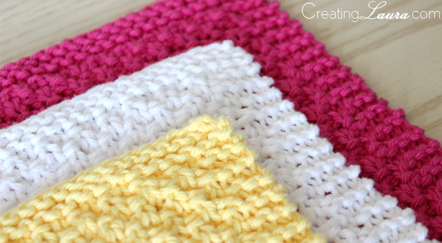 A Blessed Day: Knitted Wash Cloths- Easy