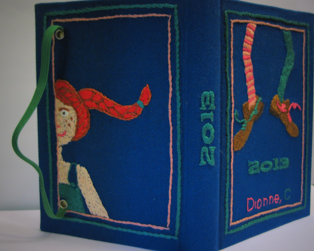 "Special Order ""The Pippi Longstocking"" Planner by Arte e Luar Bookbinding"