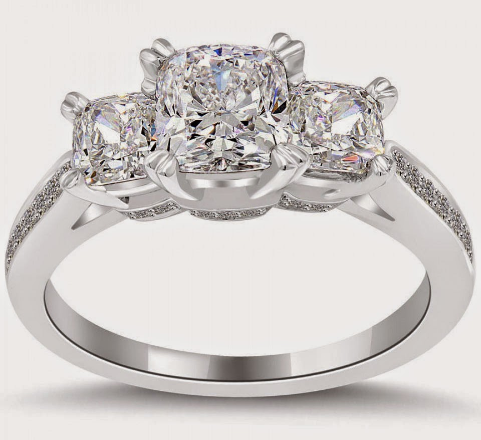 Luxury 3 Stone Diamond Wedding Rings Engagement Model pictures hd