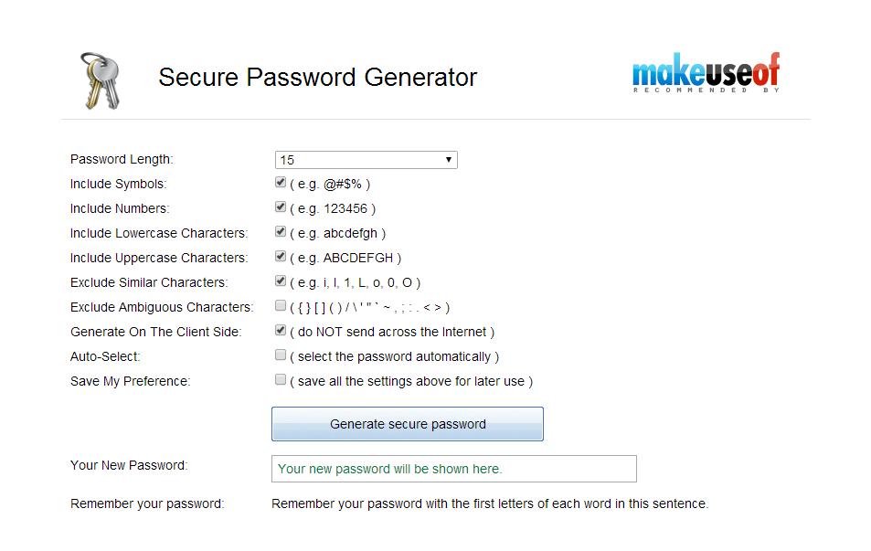 generate random password
