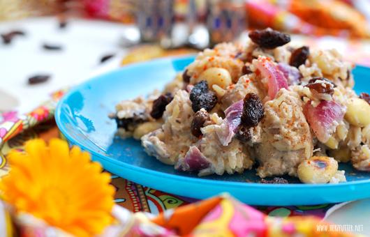 Reispfanne mit Zitronenhühnchen und Kokos