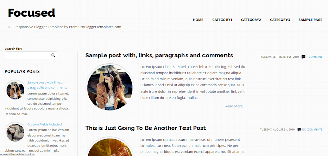 Focused - Responsive Blogger Template
