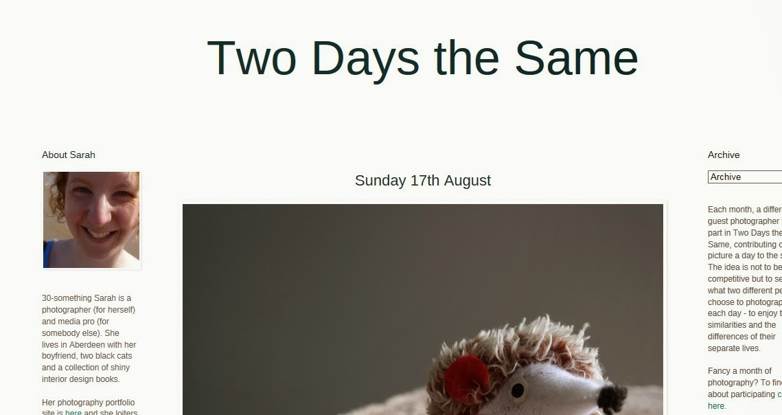 http://twodaysthesame.blogspot.co.uk/