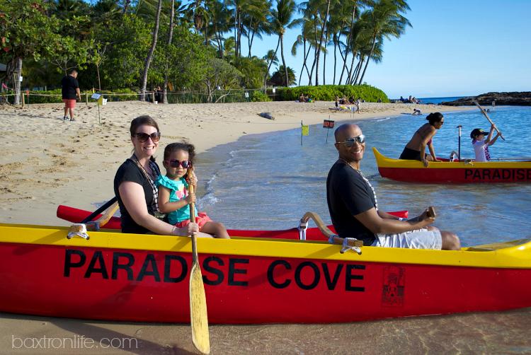 paradise cove luau canoe