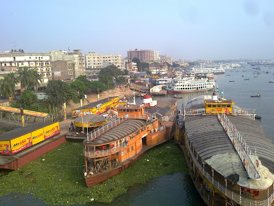 Rocket Steamer Port in Dhaka