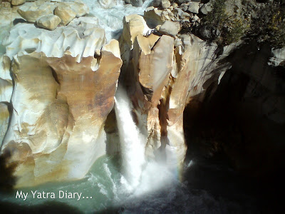 Surya Kund Waterfall, Gangotri in the Garhwal Himalayas in Uttarakhand during the Char Dham Yatra